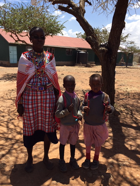 Massai Mother and Girls